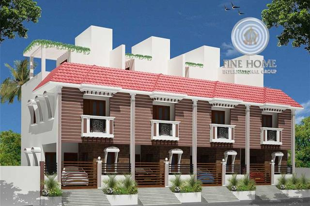 4 Villas Compound in Khalifa City (CO_481)